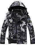GEMYSE Men's Mountain Waterproof Ski Snow Jacket Winter Windproof Rain Jacket (Camouflage,Medium)
