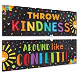 Sproutbrite Classroom Banner Decorations - Motivational & Inspirational Growth Mindset for Teachers and Students