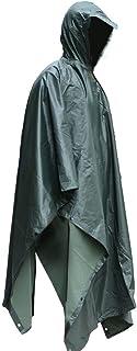 Poncho Impermeable, Ripstop Raincoat Impermeable Camuflaje Militar Capa de Lluvia con Capucha para el Deporte al Aire Libre