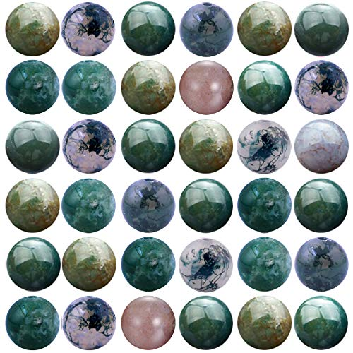 Natural Stone Beads 100pcs 8mm India Agate Round Genuine Real Stone Beading Loose Gemstone Hole Size 1mm DIY Charm Smooth Beads for Bracelet Necklace Earrings Jewelry Making (India Agate)