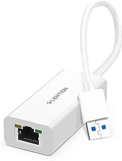 LENTION Gigabit Ethernet Network Adapter USB 3.0 to RJ45 LAN Wired Hub for 1000/100/10 Mbps Ethernet Compatible for Ninten...