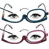 LianSan - Gafas de lectura con lentes giratorias para maquillaje L3660 (pack de 2 unidades)