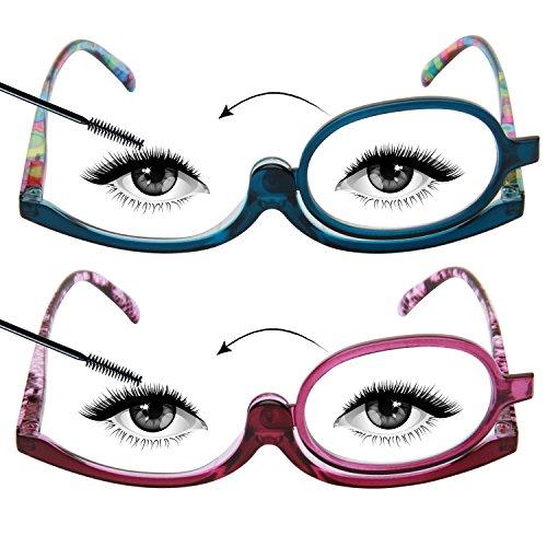 LianSan 2 paia di occhiali lenti d'ingrandimento per makeup rotanti, L3660
