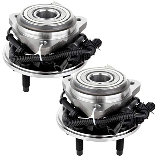 QINCHYE 515003 Wheel Hub and Bearing Assembly W/ABS front 5 Lugs 2PC Premium Grade Hub Bearing Set 2000-2009 for Ford Ranger 1995-2001 for Ford Explorer