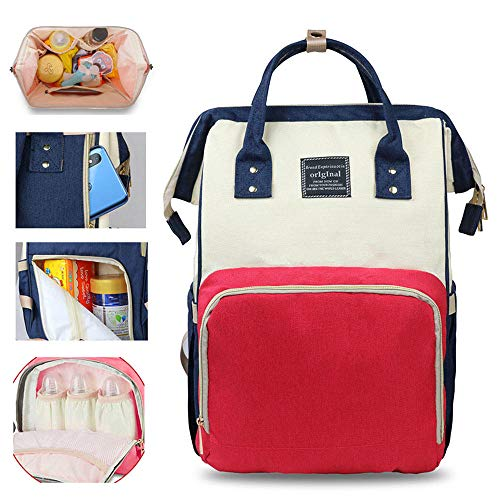Diaper Bag Backpack - Large Waterproof Travel Baby Bags, Multi-Functional Maternity Nappy Bag - Waterproof Durable Premium Oxford Fabric, Maternity Nappy Bag