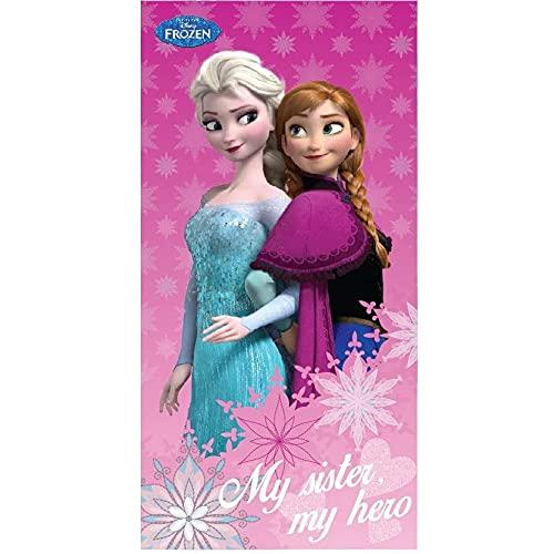 Star SpA con Socio Unico Toalla de playa Frozen Disney Elsa Anna toalla de algodón 140 x 70 cm – KIWD51051