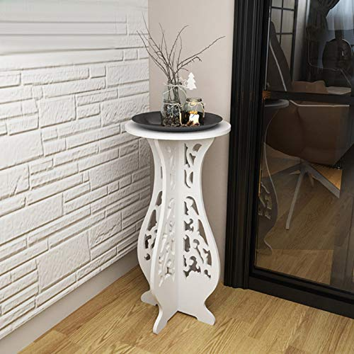 Youyijia Round Small Tea Corner Table 40 * 60 * 31cm Wpc Round Side Table for Living Room Dinning Room Bathroom Bedroom Hallway