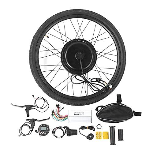 Juego de conversión de bicicleta Mejora la seguridad 48 V 1000 W Juego de conversión de motor de rueda delantera de bicicleta eléctrica, para convertir cualquier bicicleta con ruedas de 26