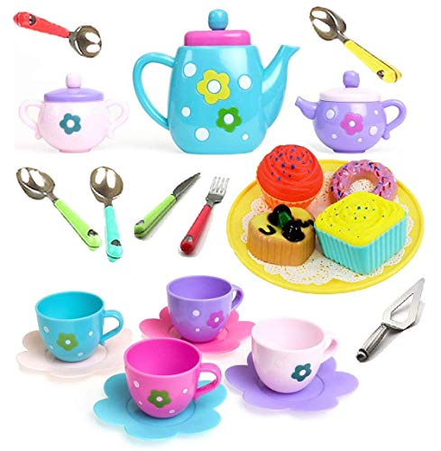 Amitasha Tea Party Pretend Play Kitchen Set Food Toy for Kids (Multicolor)