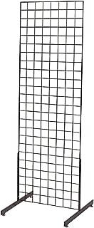2' X 6' Grid Wall Standing Fixture - Black