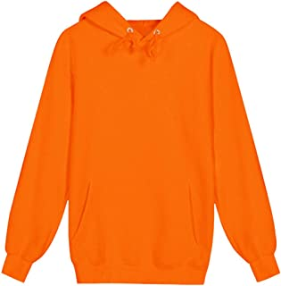 Men Solid Fashion Hoodies Sweatershirt, Male Solid Long Sleeve Sport Coat with Pocket Jacket Coat
