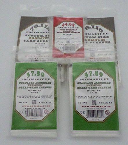 docsmagic.de Scythe Premium Sleeves Bundle - 5 Packs - 44 x 68 - 57 x 59 - 70 x 110