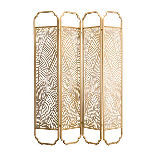 Best Review Of Even Room Splitter Screen Partition,Complex Leaf Hollow Design Metal Grid Privacy Pan...