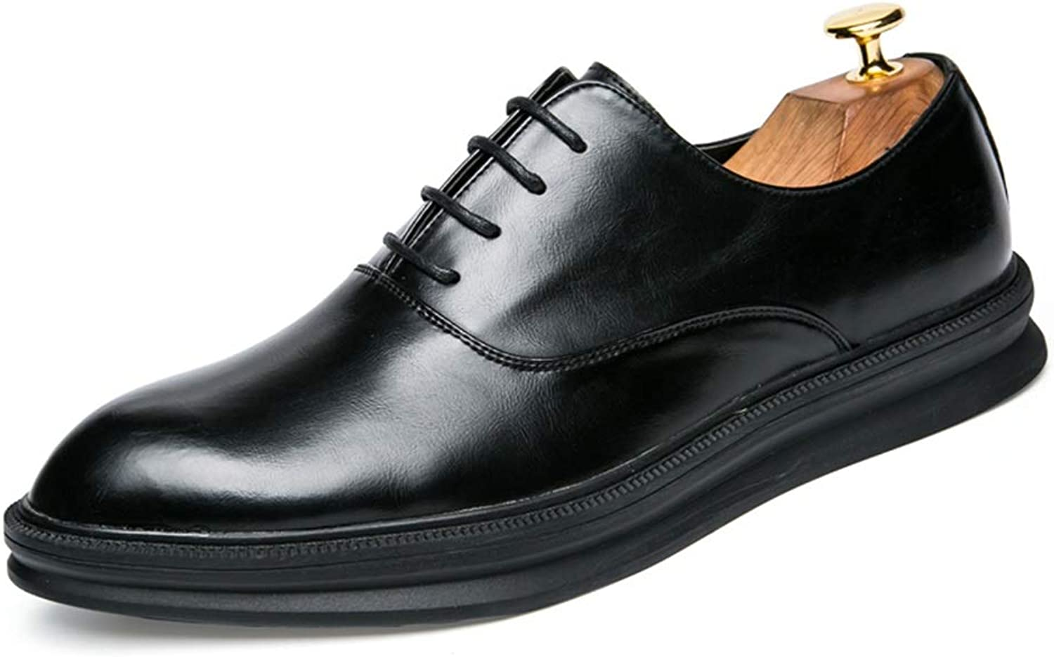 CHENXD shoes, Men's Classic Simple Pure color Business Oxford Casual Comfortable Sole Microfiber Leather Formal shoes