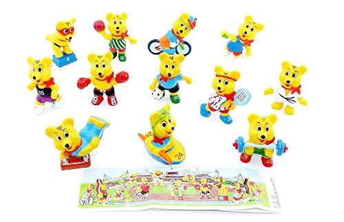 Kinder Überraschung, Haribo - Sportbären. 12 Figuren von HARIBO als Sportler - Olympiade mit Beipackzettel