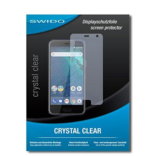 SWIDO Bildschirmschutz für HTC U11 Life [4 Stück] Kristall-Klar, Hoher Festigkeitgrad, Schutz vor Öl, Staub & Kratzer/Schutzfolie, Bildschirmschutzfolie, Panzerglas Folie