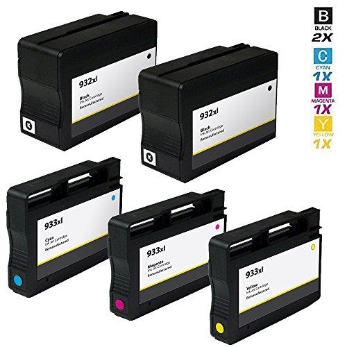 5 Schneider Printware Druckerpatronen | 20% mehr drucken |kompatible zu HP 932XL / HP 933XL CN053AE CN054AE CN056AE CN055AE für HP Officejet 6100 ePrinter 6600 6700 7110