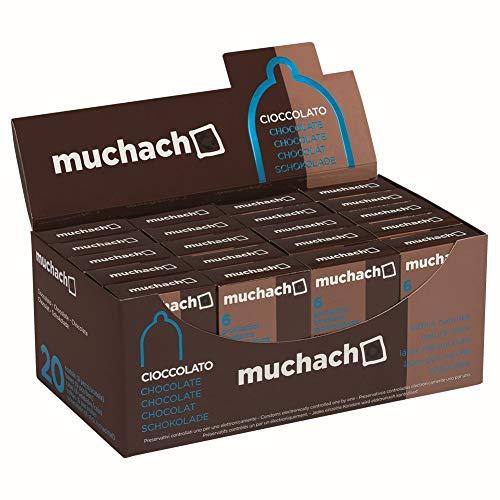 Muchacho cioccolato 1 Confezione con 20 scatoline x 6 preservativi