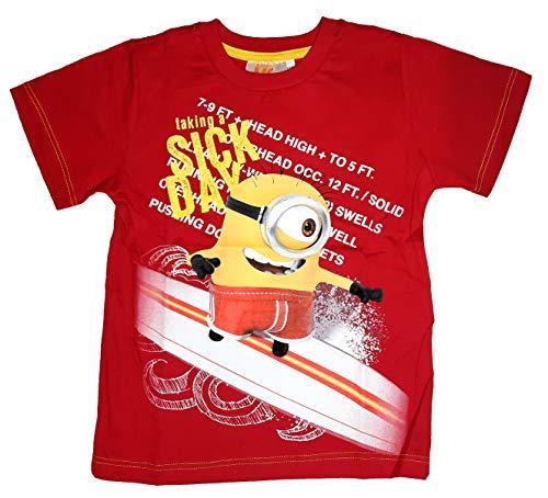MINIONS Ich einfach unverbesserlich Despicable Me T-Shirt Kurzarm (110, Rot)