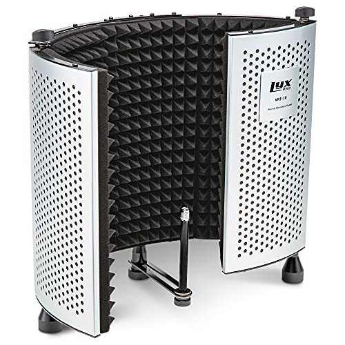LyxPro VRI-10 Vocal Sound Absorbing Shield For Studio Home And Office Recording Acoustic Isolation...