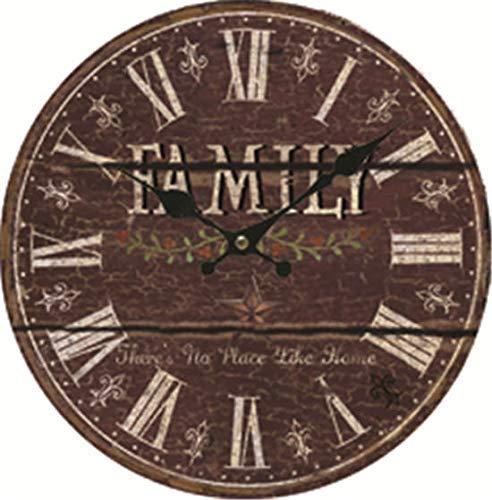 JeremyHar75 Reloj de pared de madera reciclada de 35,5 cm para decoración de pared, no hace tictac, regalo de inauguración de la casa