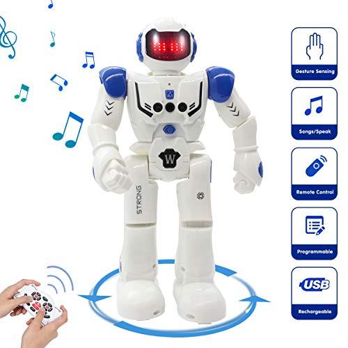 avis robot enfant professionnel Vindany Intelligent RC Robot Toy Remote Control Gesture Control Robot Kit and Programming…