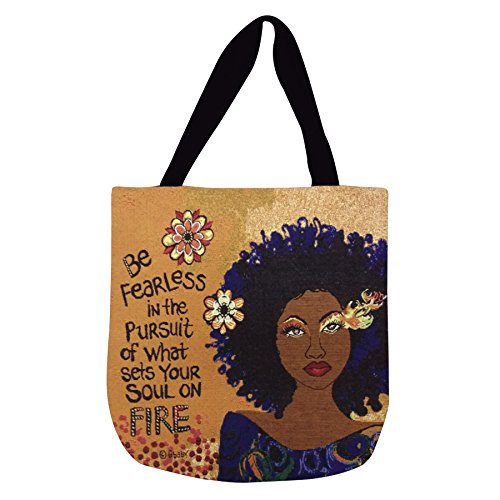 Shades of Color Woven Tote Bag, Soul On Fire, 17 x 17 inches (WTB112), Multicolored