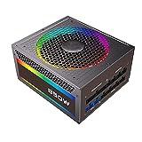 DBG Nuevo Fuente de alimentación RGB para PC 850W Fuente 80 Plus Gold Totalmente Modular 120 mm RGB Ventilador ATX ATX Desktop Computer PSU Fuente de alimentación-Negro