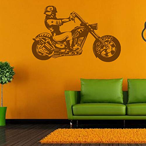 Neue Motorrad Wohnzimmer Schlafzimmer Selbstklebende Dekorative Wandaufkleber Gemalt Einfache Moderne A 92 * 58 Cm