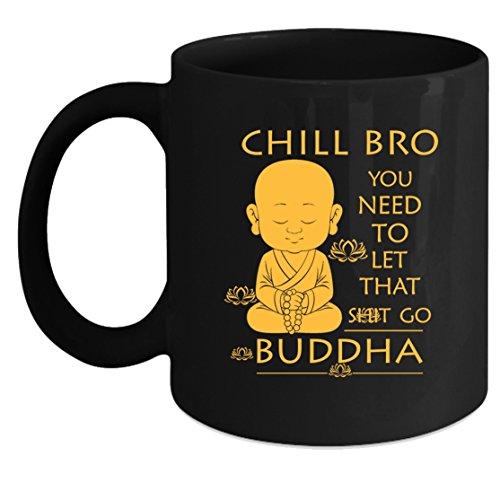Buddha Coffee Mugs - Buddha Tea Cup, Cool Design Mug 11oz Gift For Friend, Family (Coffee Mug Black)