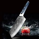 CHILE CHEF DAMASCUS STEEL VG10 CUCHILLO SASHIMI SANKOKU RAZOR AHARPE ABRAR ACCESORIO ACCESORIOS HERRAMIENTAS cuchillos (Color : 8 in cleaver knife)