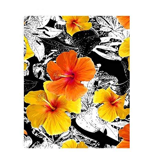 UIOLK Gris Amarillo Verde Flor Hoja hogar Moderno Arte de la Pared decoración de la Imagen del hogar Sala de Estar Dormitorio decoración del Arte