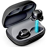 PurityOnePro True Wireless Earbuds with Wireless Charging Case,Immersive Sound, Bluetooth 5.0 in-Ear Earphones Easy-Pairing Stereo Calls/Built-in Microphones/IPX5/Pumping Bass for Sports,Workout,Gym