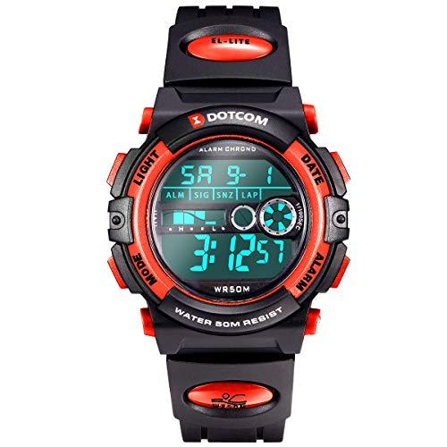 Socico Niños Digital Relojes para Niños Niñas Deportes–5 ATM Reloj Deportivo Impermeable al Aire Libre con Alarma Cronómetro,Relojes de Pulsera Electrónicos para Niños.