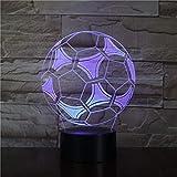 Novio fanático del fútbol bola de fútbol estilo 3D lámpara de mesa LED decoración de luz nocturna