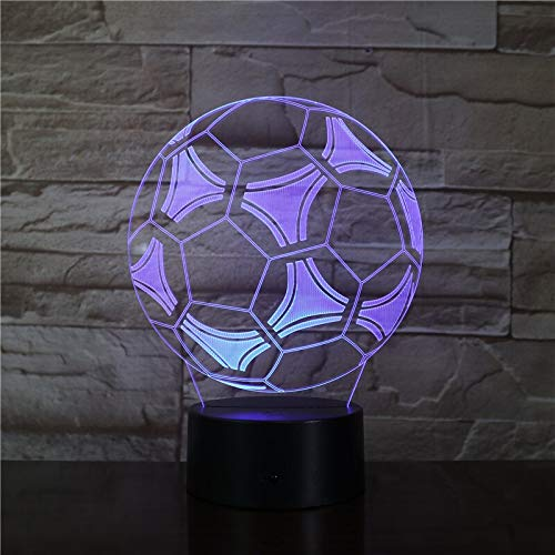 Only 1 Piece A Gift for Boyfriend Football Fan Football Style 3D LED Night Light for Bedroom Decoration Remote Touch Control