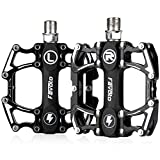 Favoto Bike Pedal Mountain Road Bicycle Wide Flat Platform Pedals, 9/16' Screw Thread Non-Slip Aluminum Alloy, Sealed Bearing Lightweight Cycling Pedal for Adult BMX MTB Bike Accessories