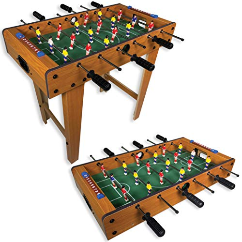"""27"""" Standing or Tabletop Foosball Table for Adults and Kids - Mini Foosball Table for Kids - Table Soccer (with Legs)"""