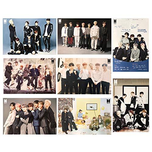 S-Mechanic 8 Stück BTS Bangtan Boys Poster, BTS Poster Wanddekoration Wandaufkleber Wandtattoo Sammlung (Theme 1)