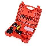 MR CARTOOL Automotive 2 in 1 Brake System Bleeder Tool, Hand Held Vacuum Pump Tester Brake Clutch Bleeding Tool Set Brake Fluid Vacuum Gauge Kit for All Vehicle