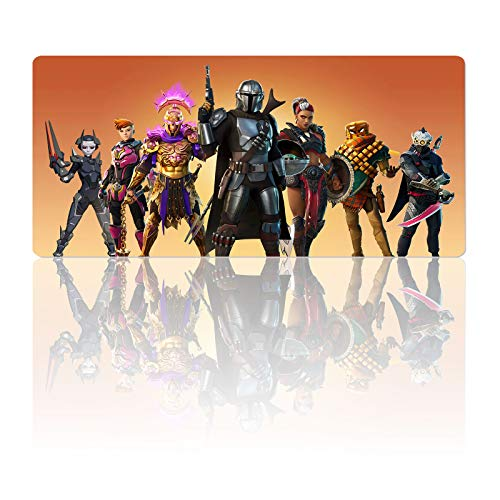 Gaming Mouse Pad for Fortnite Mandalorian Season 5-Non-Slip Rubber Base & Stitched Edges Mousepad-Textured Cloth Design-Large Laptop Desk Pad-Computer Keyboard and Mice Combo Pads Mouse Mat 23.6x11.8