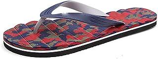 Massage Foam Flip Flops Non Slip Beach Sandals Water Resistant Poolside Footwear (Color : H, Shoe Size : 41)