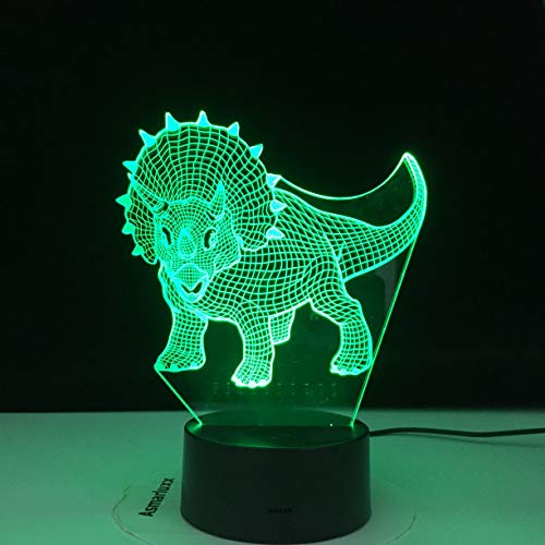3D LED Night Lights Triceratops Dinosaur with 7 Colors Light for Home Decoration Lamp Amazing Visualization Dropshipping Gift