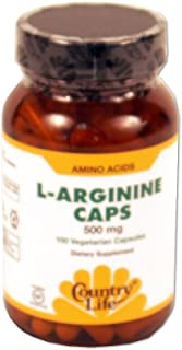 Country Life L-arginine 500 Mg with b-6, 100-Count