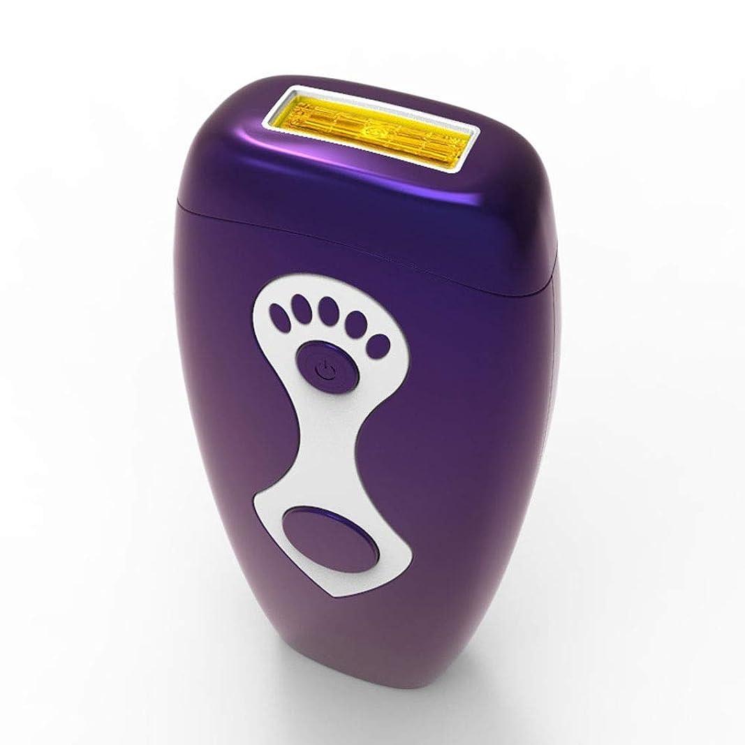 曇った所持余剰パーマネント脱毛、家庭用ニュートラルヘアリムーバー、柔らかい肌、マルチ運動エネルギー、安全性、グレード5無料調整、サイズ7.5×16.5 Cm 安全性 (Color : Purple)