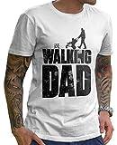 Stylotex Lustiges Herren Männer T-Shirt Basic   The Walking Dad   Geschenk für werdende Papas, Größe:XXXL, Farbe:Weiss