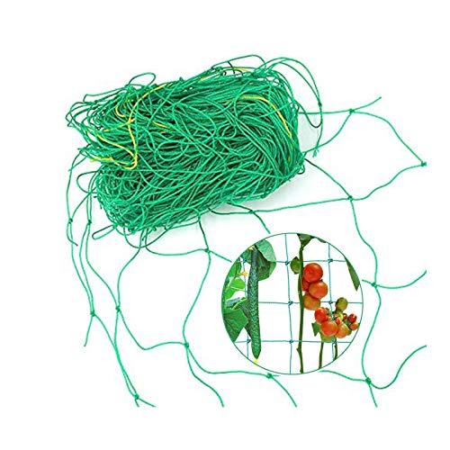 Pflanzennetz Stütznetz Gartennetz Kletterhilfe für Pflanzen Ranknetz für Kletterpflanzen Ranknetz Rankhilfe für Kletterpflanzen Gurken,Tomaten, Gemüsepflanzen, Garten Rankhilfen, Grün, 1.8* 2.7 m