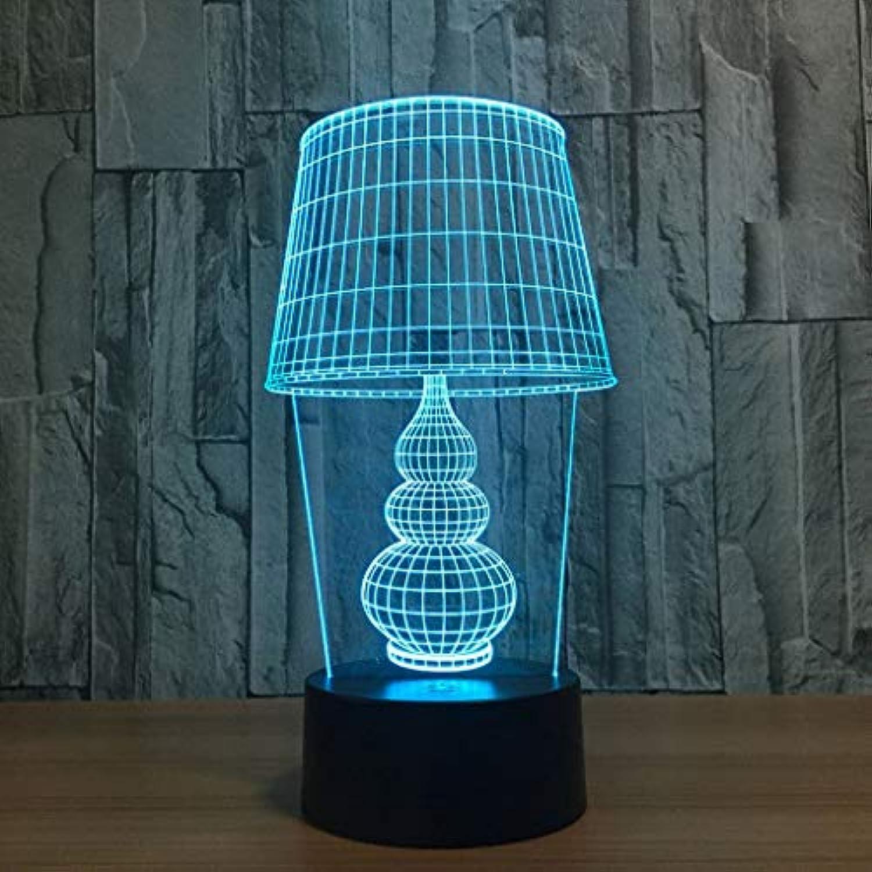 DOSNVG Table lamp 3D Touch led Light, Creative Gift Light, Stereoscopic Night Light