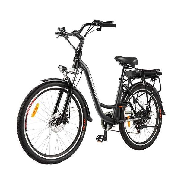 516HxftitWL. SS600  - ANCHEER 26 Zoll City E-Bike mit 250W Motor 6-Gang-Getriebe, Elektrofahrrad Pedelec mit 36V 12.5AH Abnehmbarer Lithium Akku 30 Meilen