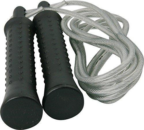 Sport-Thieme Boxer-Springseil + Zusatzgewichten a 190g | Speed-Rope für Boxen, Crossfit, Rope Skipping, Fitness-Training | Stahlseil, Bruchsicherer Kunststoff | 250 cm verstellbare Länge